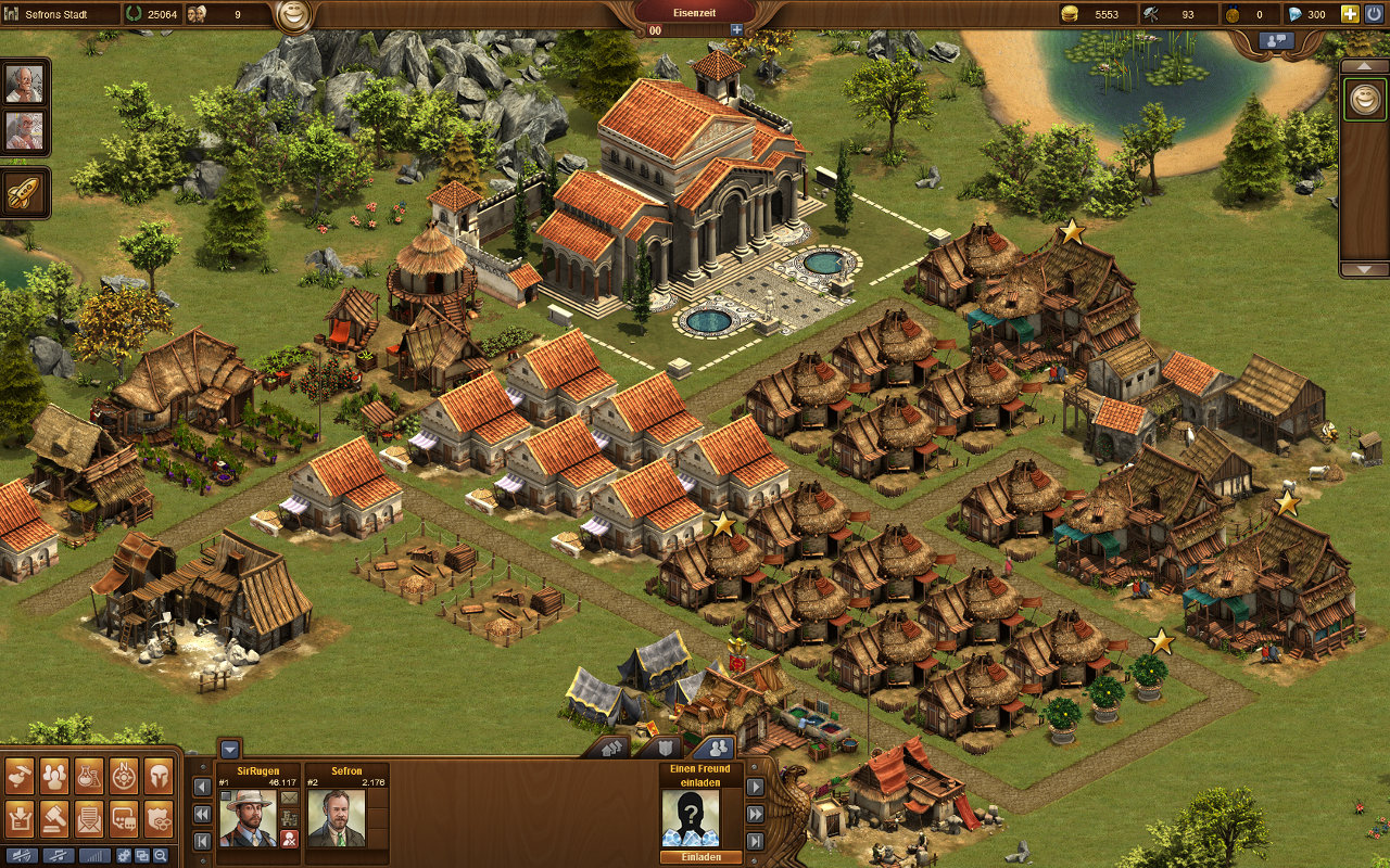 Forge of Empires Gameplay-Screenshot: Meine eigene Stadt (Bronze-/Eisenzeit)