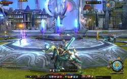 Maestia Online Screenshot - Stadt, Charakter mit Reittier