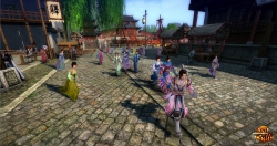 Age of Wulin Screenshot: Stadtbesuch