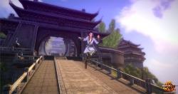 Age of Wulin Screenshot: Tempelumgebung